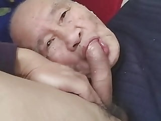Chinese old man sucking dick & getting fucked amateur (gay) asian (gay) bareback (gay)