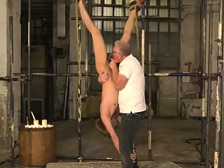 Smooth boy Chris cries out with the pain of wax poured bdsm (gay) daddies (gay) fetish (gay)