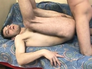 Hairy gay fucker bends over to let a huge piston up his booty bareback (gay) gays (gay) masturbation (gay)