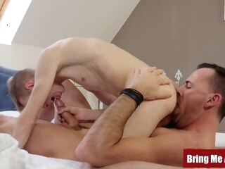 BRINGMEABOY Daddy Dave London Fucks Young Blond After 69 gay bareback gay big cock gay blowjob