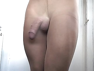 She makes my cock hard in layered pantyhose . amateur (gay) big cock (gay) crossdresser (gay)