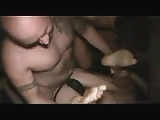 Blindfoldet BB Gangbang with hot men gay porn (gay) bareback (gay) group sex (gay)