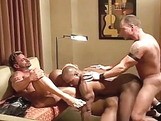 Interracial bareback muscle orgy bareback (gay) group sex (gay) hunk (gay)