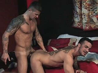 Francesco jerks off while spying on Goran and Massimo gays (gay) masturbation (gay) men (gay)