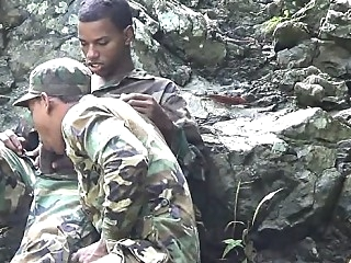 Army boys scout for hard meat outdoors black gays (gay) blowjob (gay) gays (gay)