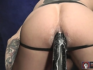 Morgan Black in leather mask does assplay with Cylus Kohaan 2:04 2014-06-14