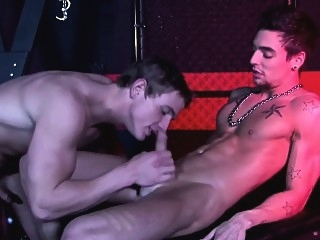 BDSM dominator flogs and fucks submissive in dungeon bdsm (gay) blowjob (gay) gays (gay)