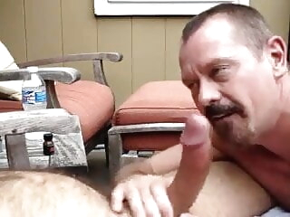 Swallowing cum 2 blowjob bukkake daddy