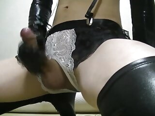crossdresser masturbation in bunny lingerie 7:20 2020-12-21