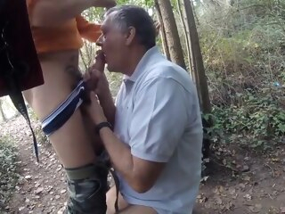 Cruising...stranger in horny forest gay bareback gay blowjob gay daddy